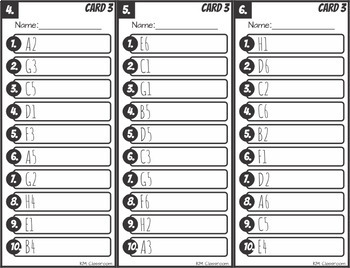 Find, Read and Write Color Sight Words Grid Reference Game