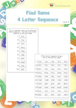 Find Same 4 Letter Sequence
