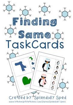 Find Same Task Cards--Winter Theme