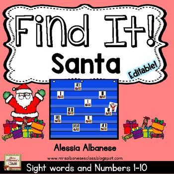Find Santa! {A Number Game 1-10}