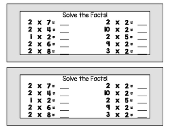Find, Say, and Punch!  Multiplication