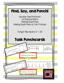 Find, Say, and Punch!  Number Identification