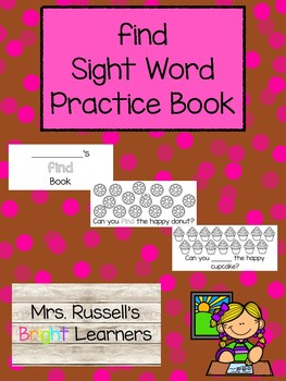 Find Sight Word Practice Book