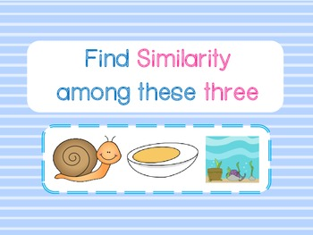 Find Similarity among three things Game (Similar to Tribonds)