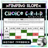 Find Slope Given Two Points- DIGITAL Choice Grid