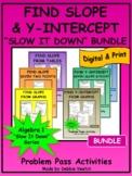 "Find Slope & Y-Intercept ""Slow It Down"" Bundle | Digital -"