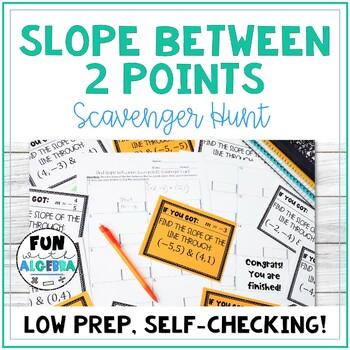 Find Slope between 2 points Scavenger Hunt