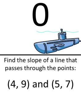 Find Slope from Two Points Scavenger Hunt (Easier Problems)