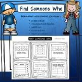 Find Someone Who, Origo Stepping Stones, Grade 4 TEKS, For