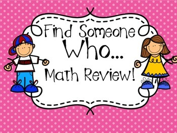 Find Someone WHO… MATH REVIEW!