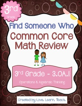 Multiplication Word Problems Review | Find a Friend