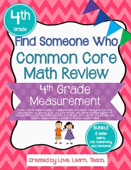 Find Someone Who - 4.MD.A.1 - Bundle - Common Core Math