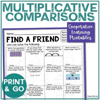 Multiplicative Comparison Review   Multiplication Comparison   Find a Friend