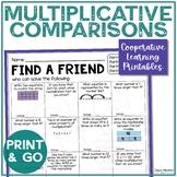 Multiplicative Comparison Review | Multiplication Comparison | Find a Friend