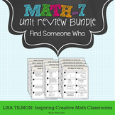 7th Grade Math Unit Review Find Someone Who Activity Pack