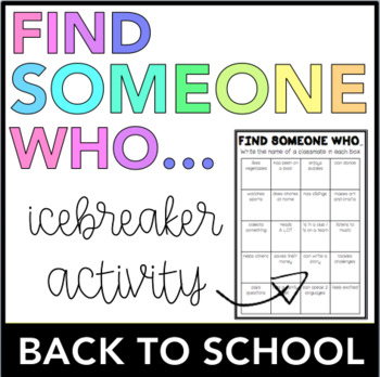 Find Someone Who... (Back To School)
