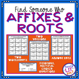Find Someone Who - Prefixes, Root Words and Suffixes