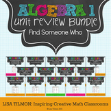 Algebra 1 Unit Review Find Someone Who Activity Bundle