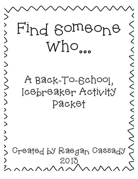 Find Someone Who - Back to School Ice Breaker