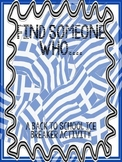 Find Someone Who... Back to School Ice Breaker Activity