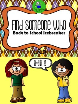 Find Someone Who: Back to School Icebreaker