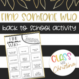 Find Someone Who - Back to School Icebreaker Activity