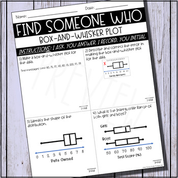 Find Someone Who (Box-and-Whisker Plot)
