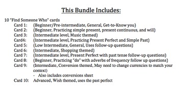 Find Someone Who Bundle