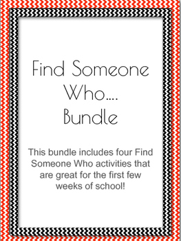 Find Someone Who Bundle - Back to School Getting to Know You Activity