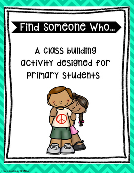 'Find Someone Who' Class Building Activity for Primary Grades