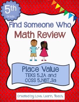 Find Someone Who - Decimal Place Value to Thousandths
