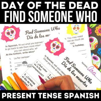 Find Someone Who: Día de los muertos /Day of the Dead in Spanish class