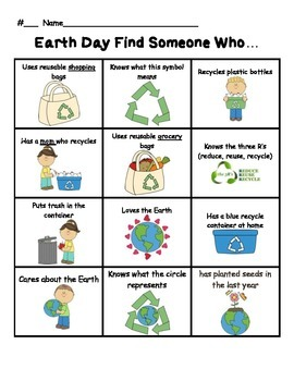 Find Someone Who - Earth Day Theme