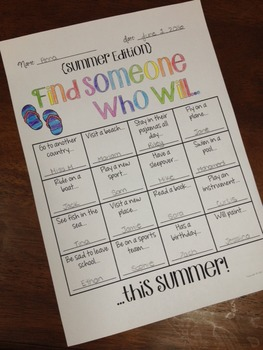 Find Someone Who.. End of Year Activity {FREEBIE}