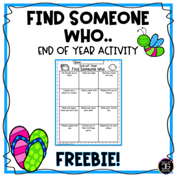 Find Someone Who... End-of-Year Activity