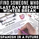 Winter Break Plans Spanish class Future Find Someone Who - Este descanso