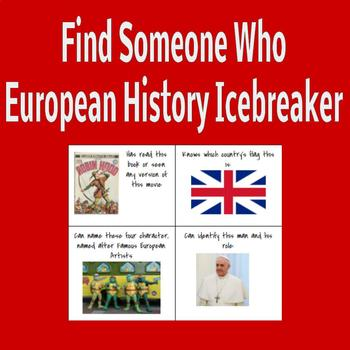 Find Someone Who: European History Icebreaker
