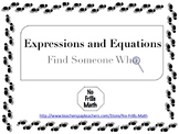 Find Someone Who -- Expressions and Equations Bundle