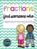 Find Someone Who - Fractions (3rd Grade)