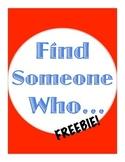 Find Someone Who: No-Prep Speaking Activity Freebie