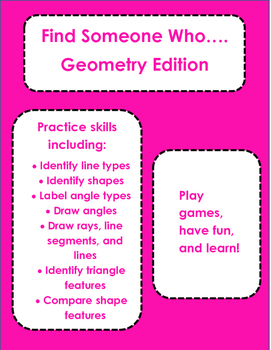 Geometry: Find Someone Who