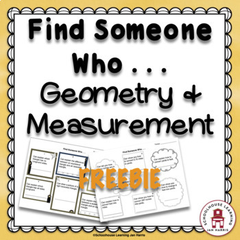 Find Someone Who . . . Geometry & Measurement