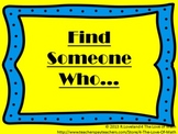 Find Someone Who: Getting to Know You