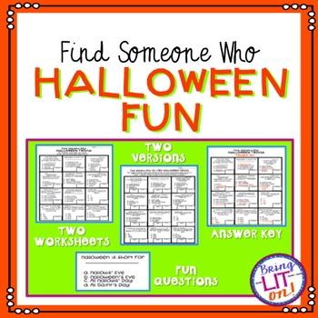 FREEBIE! Halloween Fun - Find Someone Who