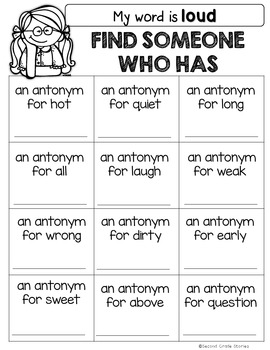 Synonyms, Antonyms, Past Tense, Plurals