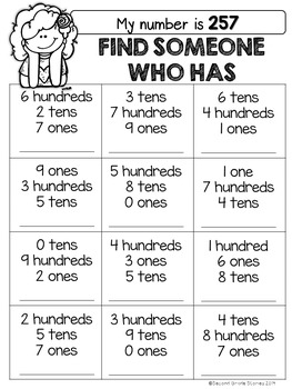 Place Value Games - Find Someone Who