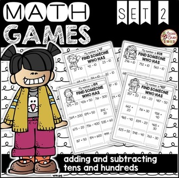 Place Value Math Games ~ Set 2: Adding and Subtracting Multiples of Ten