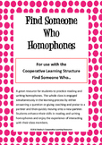 Find Someone Who: Homophones