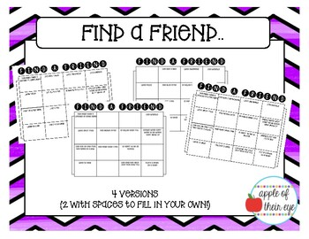 Find a Friend -Ice Breaker Activity