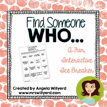 Back to School Ice Breaker - Find Someone Who...